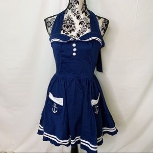 Hell Bunny Vixen Nautical Sailor Pinup Rockabiliy
